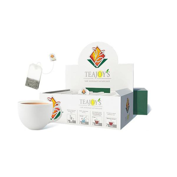 Чай Teajoy's зеленый байховый китайский, 100 пакетиков