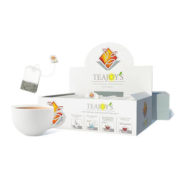 Чай Teajoy's черный байховый с ароматом бергамота, 100 пакетиков