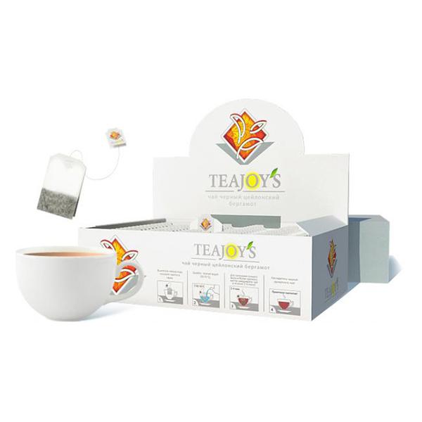 Чай Teajoy's черный байховый с чабрецом, 100 пакетиков