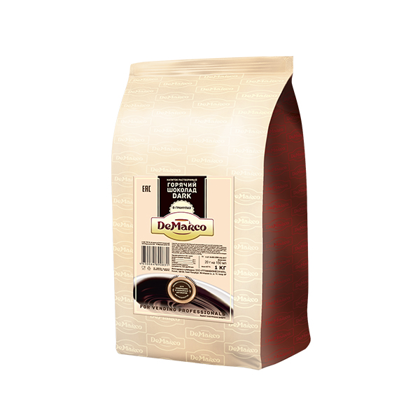 Горячий шоколад DeMarco Dark гранулы 1 кг