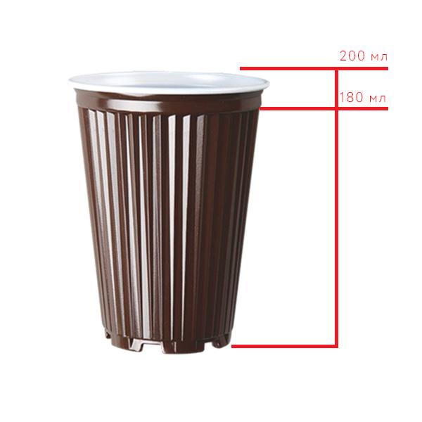Стакан пластиковый для горячих и холодных напитков Flo S.P.A. Termo, 200 мл